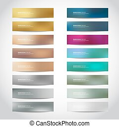 gold, silver, bronze vector banners