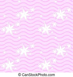 seamless, pink pattern with lines and flowers