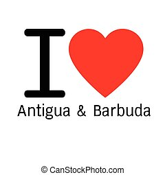 i love Antigua and Barbuda lettering illustration design...