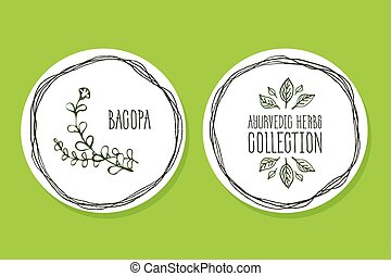 Ayurvedic Herb - Product Label with Bacopa - Ayurvedic Herb...