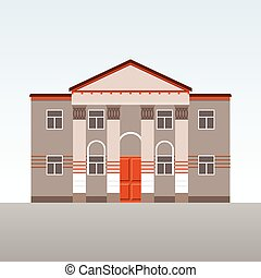 Classical building with columns