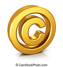 Copyright symbol isolated on white background - Creative...