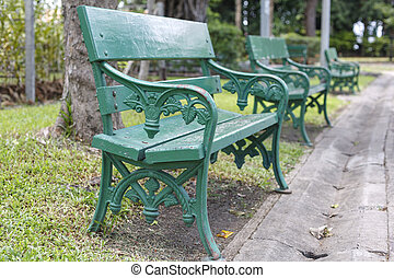 Chairs in the park in Bangkok