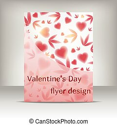 flayer design valentin - Valentin's day flayer design,...