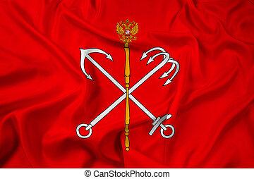 Waving Flag of Saint Petersburg