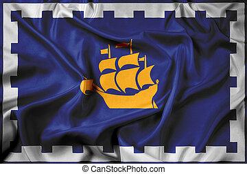Waving Flag of Quebec City