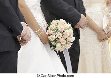 Focus on Bridal bouquet