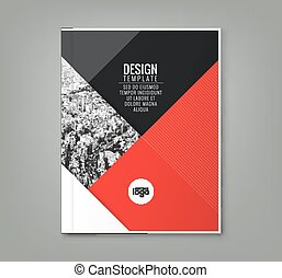 minimal red color design template background for business annual report book cover brochure flyer poster