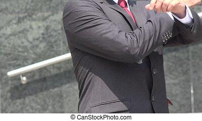 Business Man Posing Business Suit