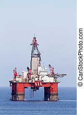 Oil and Gas - Offshore oil and gas drilling platform.