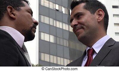 Business Men Exchanging Money