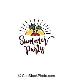 Vector summer background with text