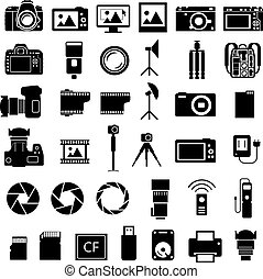 Camera Accessories Icons - Camera and many photo accessories...