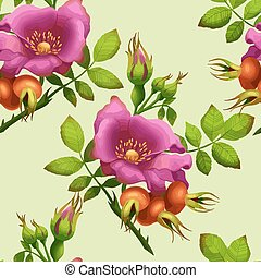 seamless pattern of rose