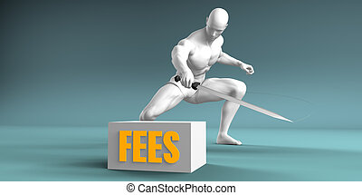 Cutting Fees and Cut or Reduce Concept