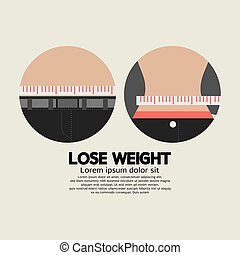 Flat Design Lose Weight Healthy.