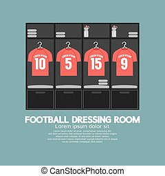 Football Or Soccer Dressing Room. - Football Or Soccer...