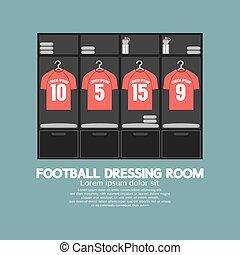Football Or Soccer Dressing Room. - Football Or Soccer...