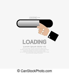 Hand With Loading Status Vector. - Hand With Loading Status...