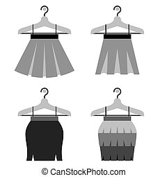 Black Women Skirts With Hangers. - Black Women Skirts With...