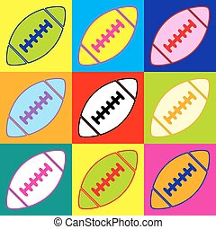 American simple football ball