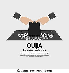 Ouija Board Playing Vector - Ouija Board Playing Vector...
