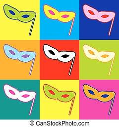 Traditional Venetian Carnival Decorative mask icon