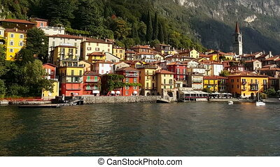 Lake Como, Varenna Italy Varenna village as seen by sea...