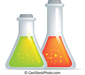 science potion - illustration of a set of science laboratory...