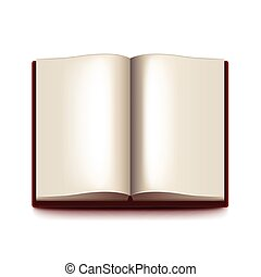 Opened book isolated on white vector - Opened book isolated...