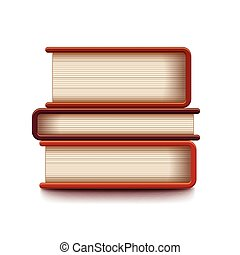 Stack of books isolated on white vector - Stack of books...