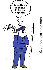 Leadership Decisions - Business cartoon about the difficult...