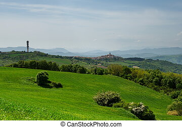 Late spring rural landscape