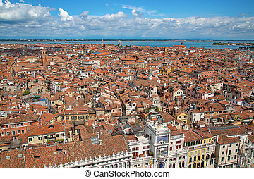 Venice - Aerial view of the Venice city, Italy
