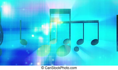 Music backgrounds loop multi color