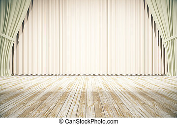 Stage with light curtains