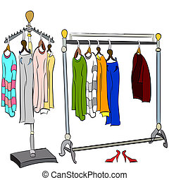 clothes on the rack