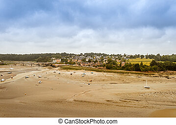 Panorama of Brittany coastline, France