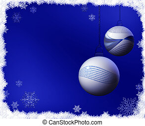 Binary code Christmas balls