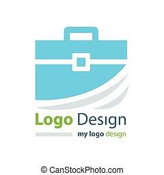 logo design bag blue color - logo design bag blue color