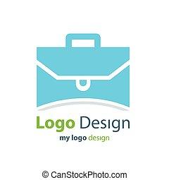 design logo bag blue color