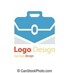 vector logo design bag