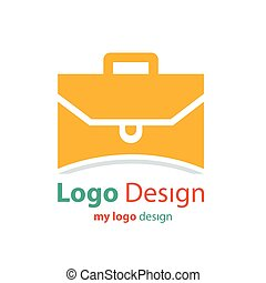 design logo bag orange color