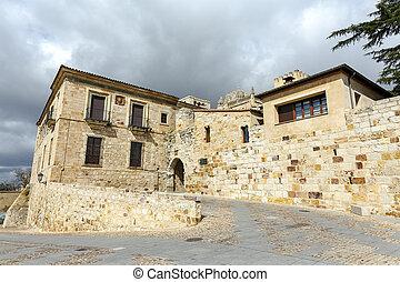 Bishop door Zamora Spain - Bishop door view of the door of...
