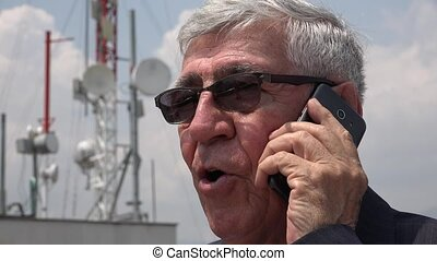 Senior Talking On Cell Phone