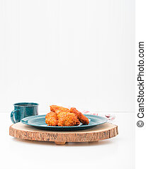 Wings on Tin Plate Portrait
