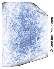 Blue vintage grunge textured paper scroll, antique background texture of a paper page, highly detailed
