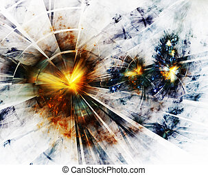 Blast - Explosion, broken glass, burst of light