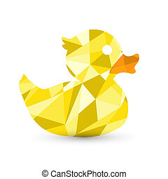 abstract rubber duck in shapes illustration design graphic