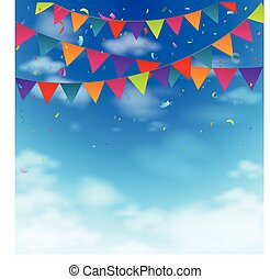 Celebration bunting flags - Vector Illustration of...